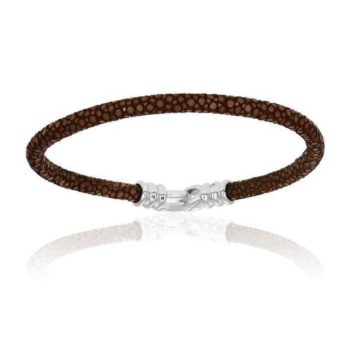 Double Bone Single Stingray Brown Bracelet Unisex