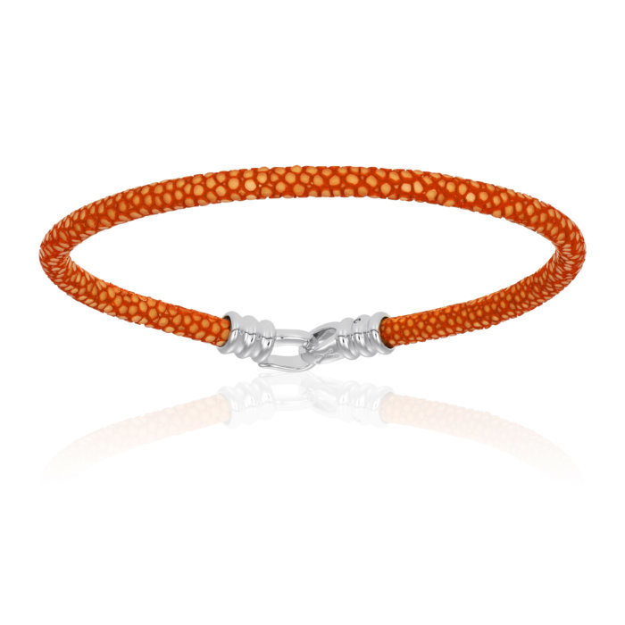 Double Bone Single Stingray Orange Bracelet Unisex