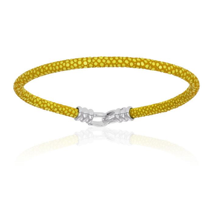 Double Bone Single Stingray Yellow Bracelet Unisex