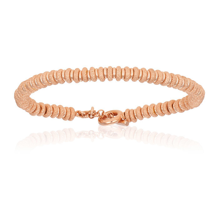 Double Bone Medium Beads Rose Gold Bracelet Unisex