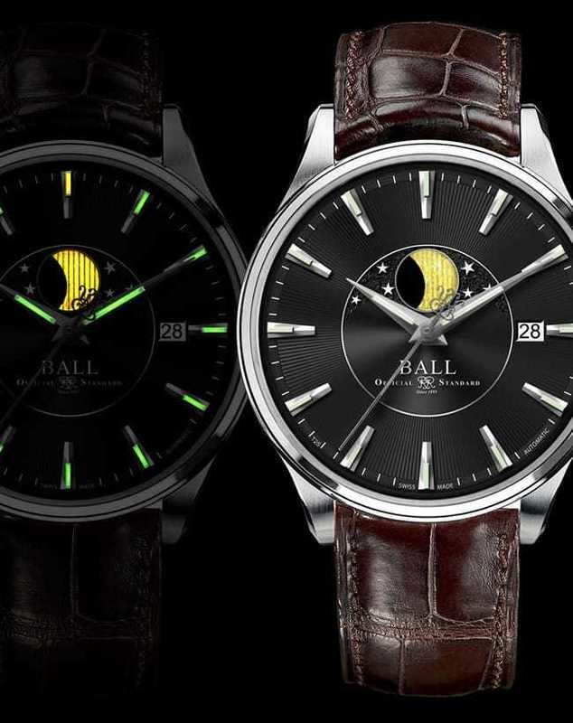 Ball Watch Trainmaster Moon Phase NM3082D-LLFJ-BE