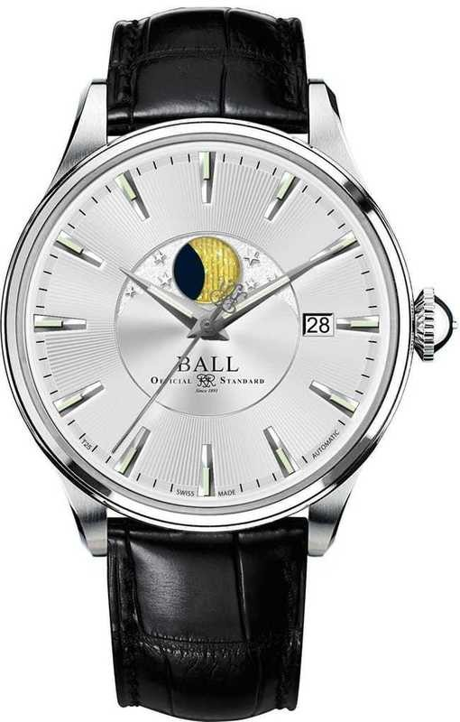 Ball Watch Trainmaster Moon Phase NM3082D-LLFJ-SL