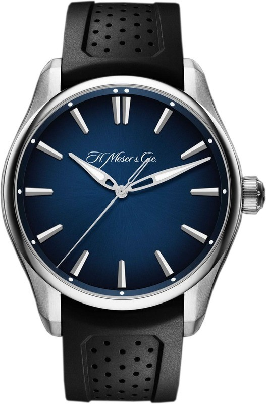 H. Moser & Cie Pioneer Centre Seconds Steel Midnight Blue Fume Dial