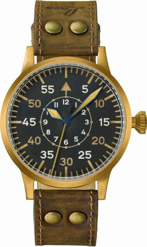 Laco Pilot Watch Original Friedrichshafen Bronze
