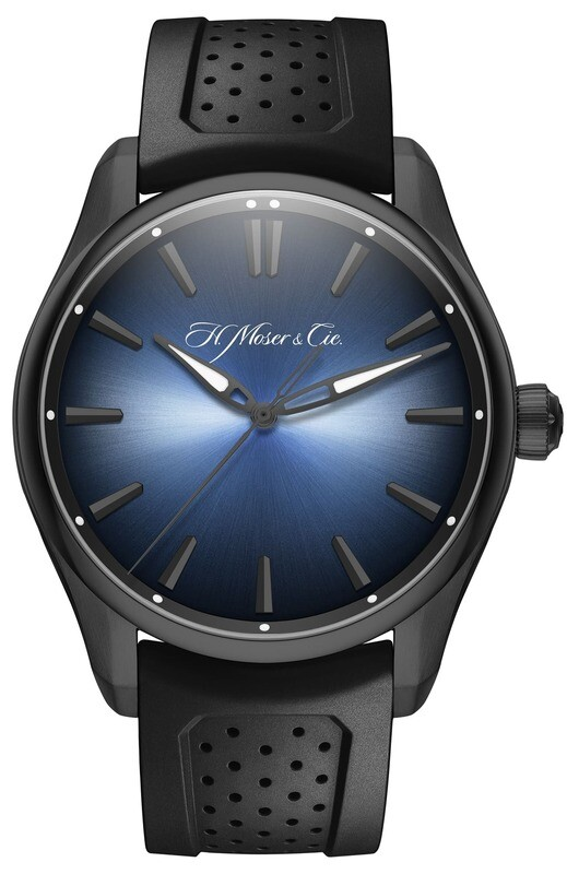 H. Moser & Cie. Pioneer Centre Seconds Funky Blue Black Edition