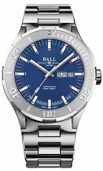 Ball Roadmaster Skipper Day Date Blue 43mm