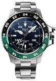 Ball Engineer Hydrocarbon AeroGMT II Blue Dial Green Bezel