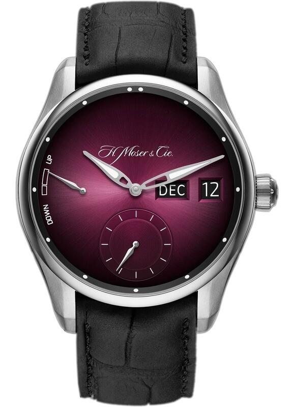 H. Moser & Cie. Pioneer Perpetual Calendar MD Burgundy Dial