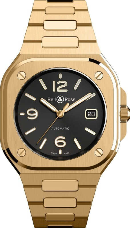 Bell & Ross BR 05 Gold on Bracelet