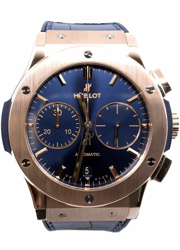 Hublot Classic Fusion Blue Chronograph King Gold 45mm 521.OX.7180.LR