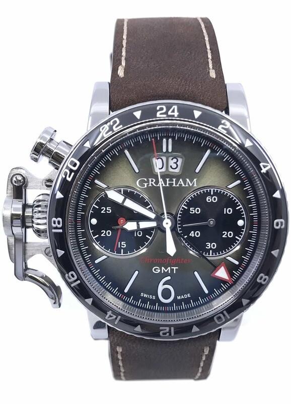 Graham Chronofighter Vintage GMT Green Dial 2CVBC.G01A
