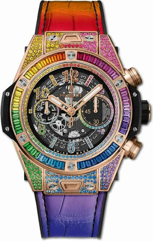 Hublot Big Bang Unico Rainbow King Gold
