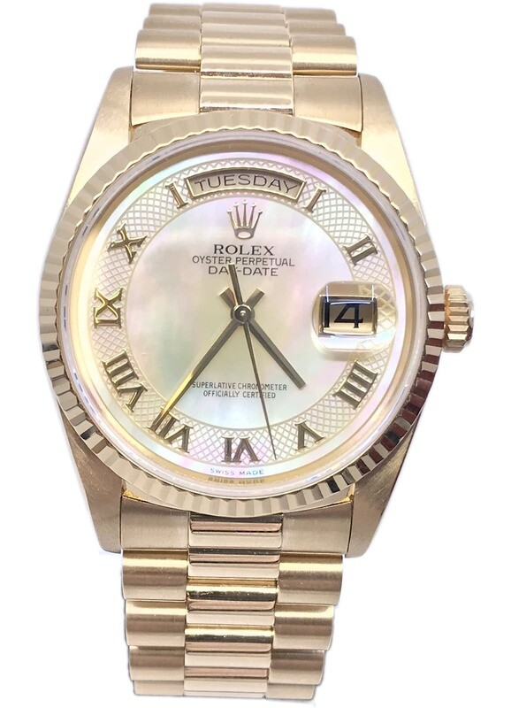 Rolex President Champagne MOP Dial Deco R18238