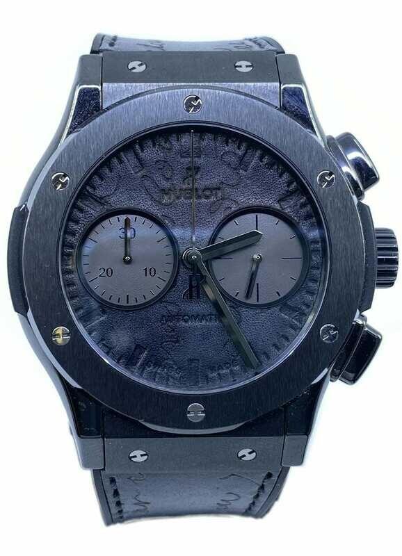 Hublot Classic Fusion Chronograph Berluti Scritto All Black 521.CM.0500.VR.BER17