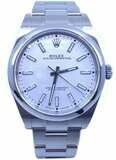 Rolex Oyster Perpetual 39mm Silver Dial 114300