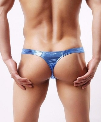 Metallic T-Back Thong for men