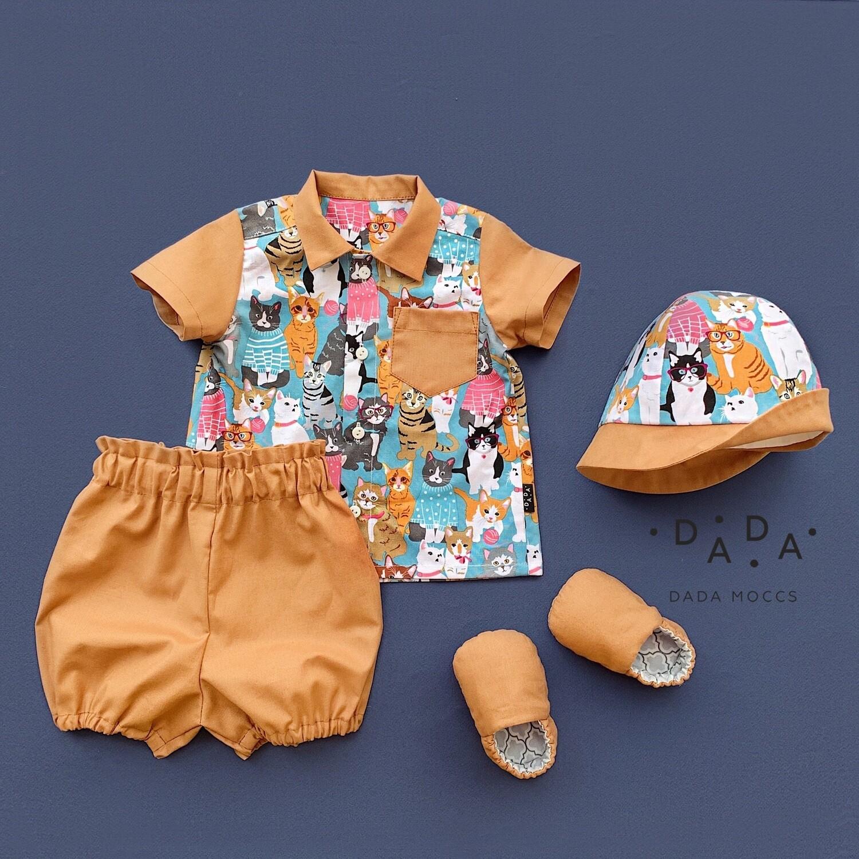 Комплект рубашка, панама, моксы и блумеры