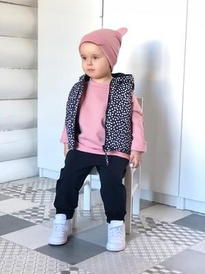 Комплект шапочка ZOO, жилет, джоггеры и базовый свитшот оверсайз