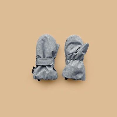 Зимние варежки на липучке (с пальчиком)