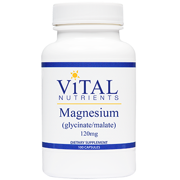 Magnesium (Glyc./Malate) 120 mg 100 caps (MAG44)