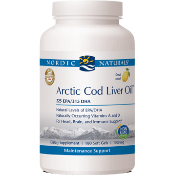Arctic Cod Liver Oil Lemon 180 gels (EE ARC31)