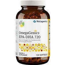 OMEGAGENICS EPA-DHA 720 LEMON 120 GELS (EPA34)