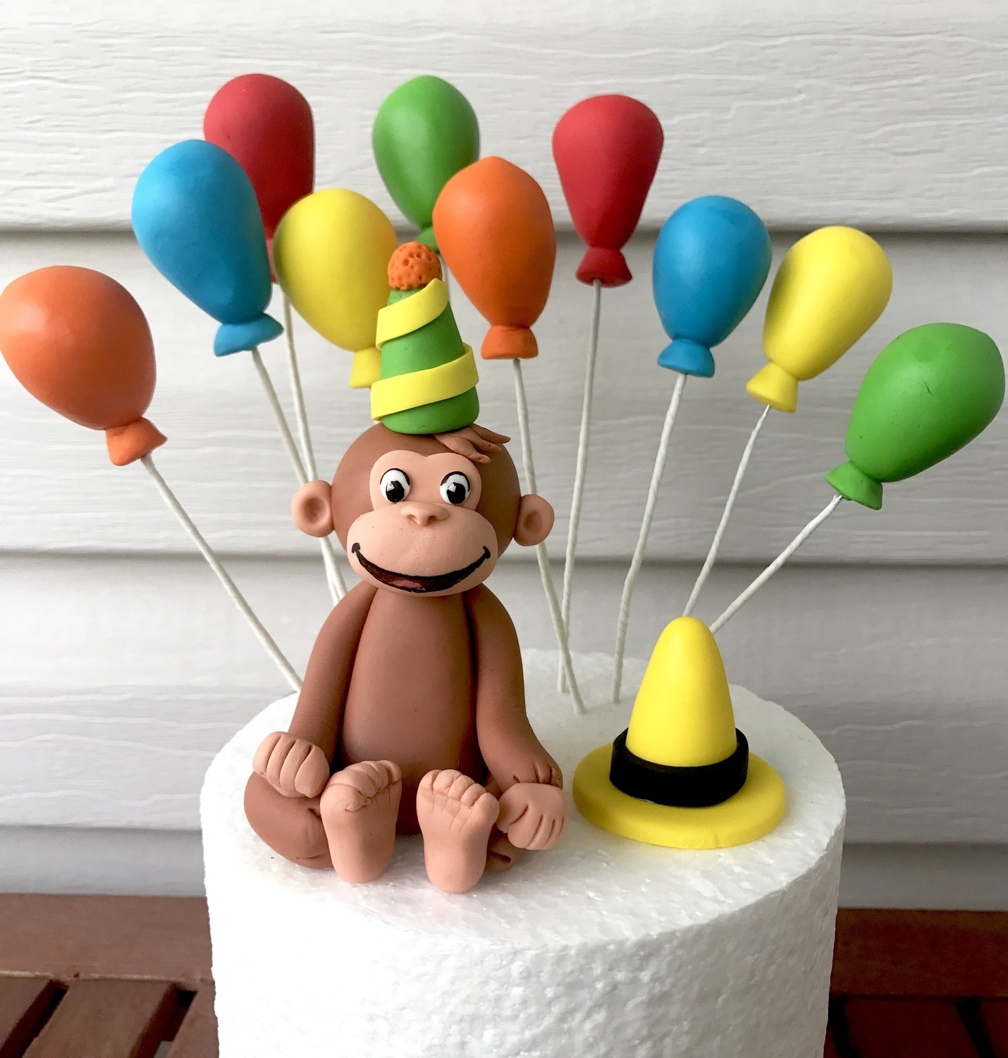 Terrific Edible Fondant Complete Set Of Curious George Birthday Cake Topper Funny Birthday Cards Online Sheoxdamsfinfo