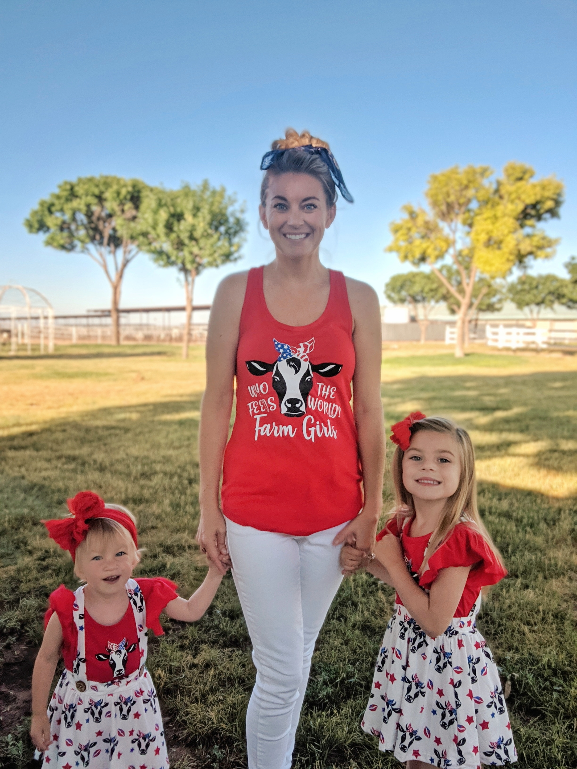 Who Feeds the World Red Tank Top