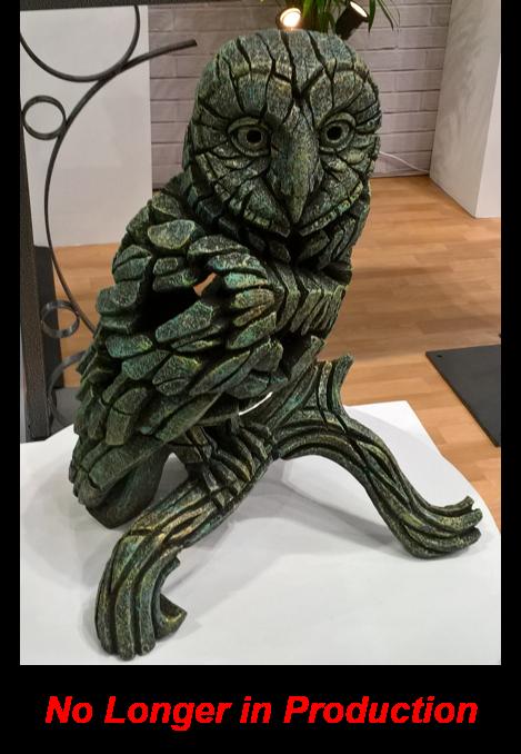 Barn Owl - Emerald Gold Glow