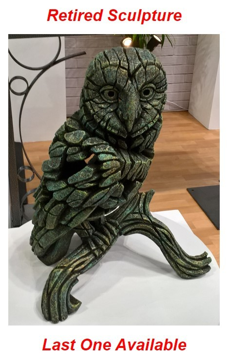 Barn Owl - Emerald Gold Glow 11110