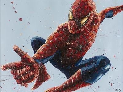 Spiderman on Blue