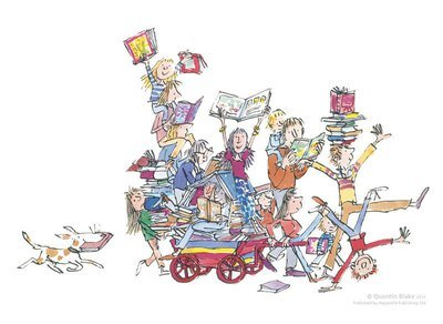 The Book Cart (signed & framed)