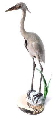 Heron in Sea Grass