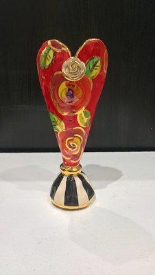Tiny Heart Vase - Red