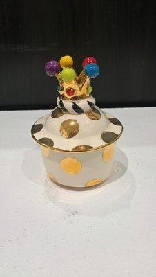 Small Lidded Pot - Gold