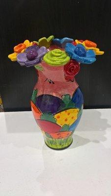 Multi Flower Encrusted Vase - Medium