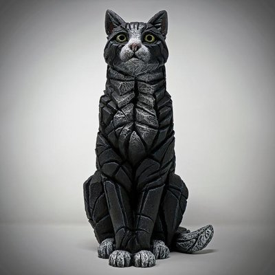 Cat Sitting - Black & White