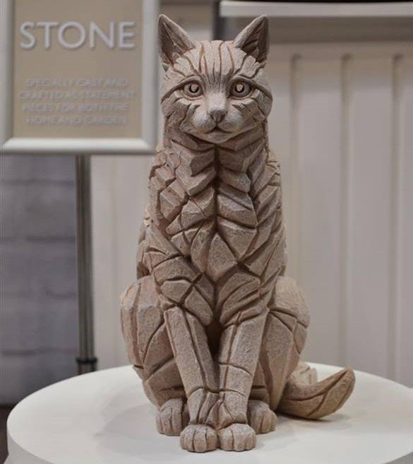 Cat Sitting - Yorkstone for Outdoors