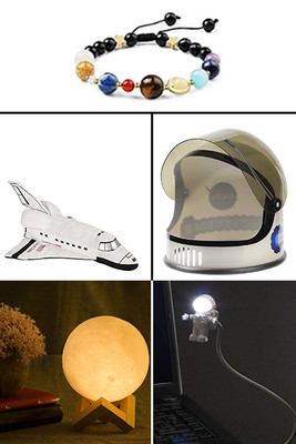 Bracelet: The Solar System, Spaceman Light,  Moon Lamp, Astronaut Helmet, Space Shuttle Plush,Mug Heat Changing Constellation