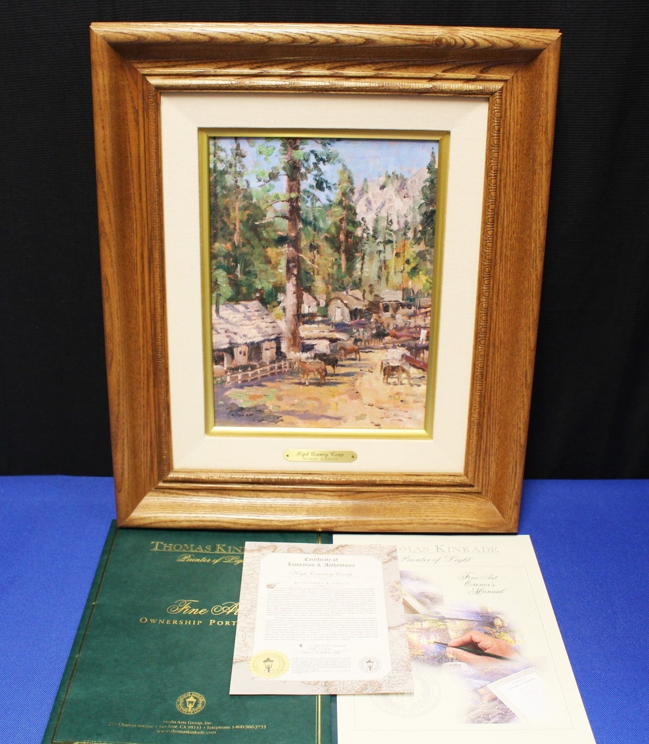 "Thomas Kinkade ""High Country Camp"" 12 x 9 Lithograph on Canvas G/P #6/260"