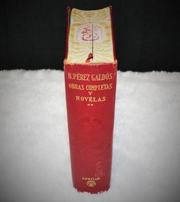 Benito Perez Galdos Obras Completas Vol. V Novelasin SPANISH Hardcover Book