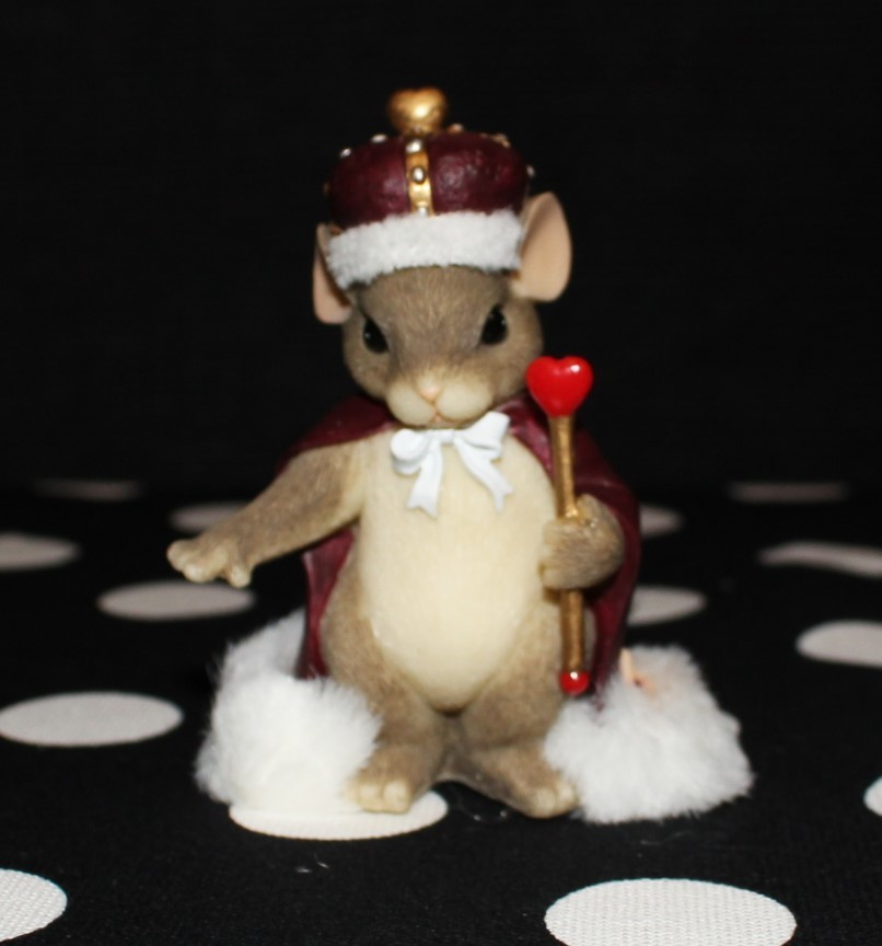 "Charming Tails by Fitz & Floyd 2000 ""King of My Heart"" #84/113 Figurine w/Box"