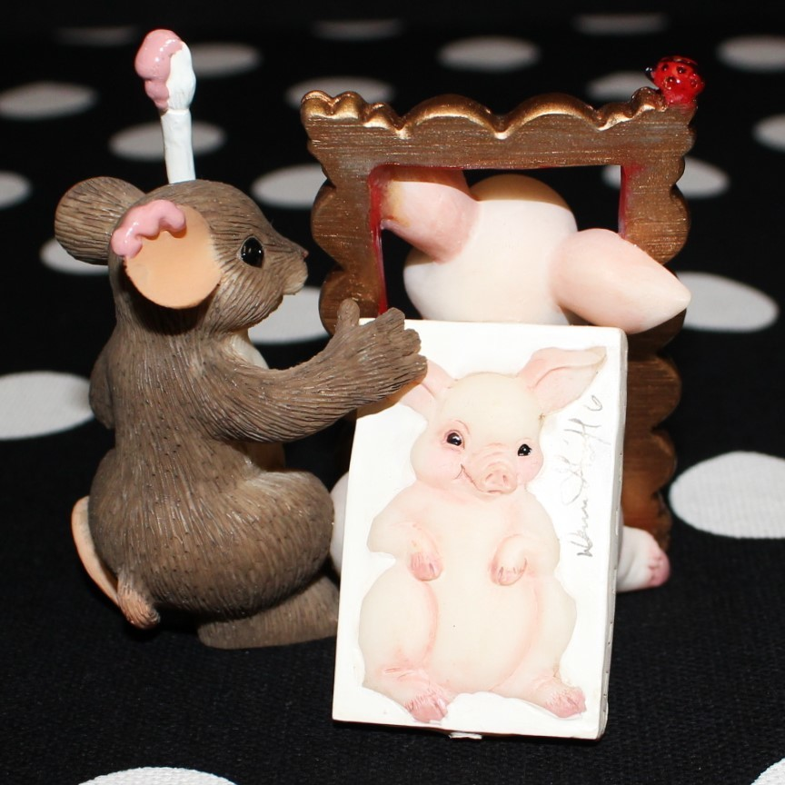 """Charming Tails by Fitz & Floyd Signature Series """"You're a Work of Art"""" in Box #89/177"""