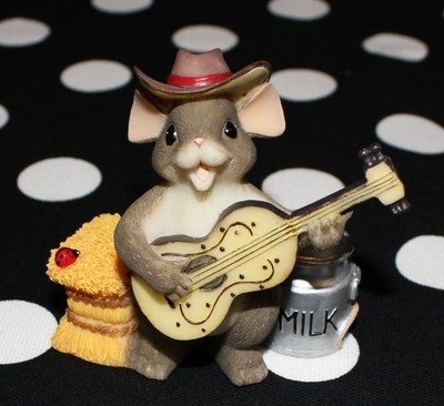 "Charming Tails by Fitz & Floyd ""The Country Singer"" Figurine w/ Box #82/114"