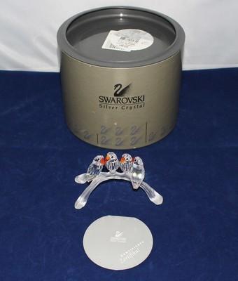 Swarovski Crystal Baby Love Birds Figurine 7621000005 w/ Certificate & Box