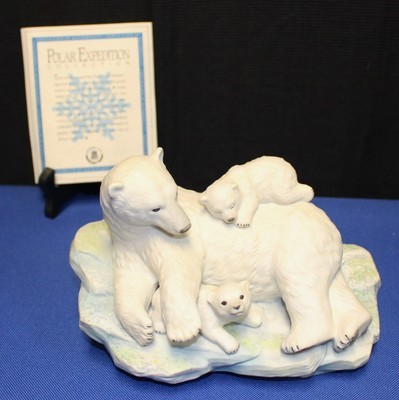 1992 Maruri Fine Porcelain Polar Bear Expedition Figurine w/ COA & Original Box