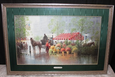 "G. Harvey 1991 ""A Touch of Spring"" 41"" x 28"" Framed Print S/N 1570/3550 with COA"