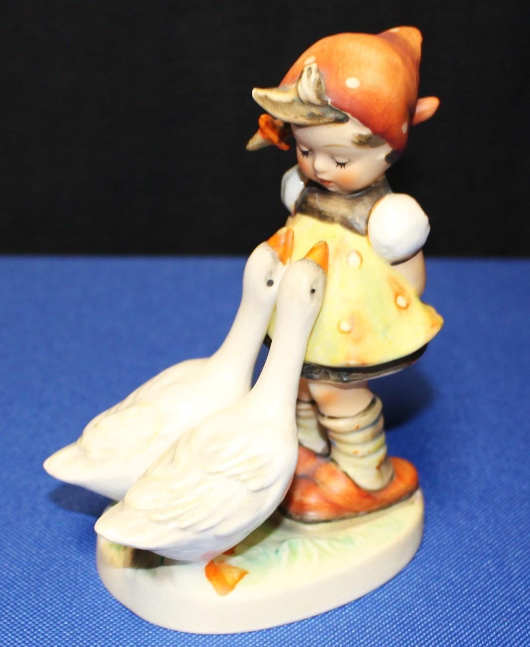 "Goebel Hummel Goose Girl 4.75"" Porcelain Figurine #47/0 TMK-3"