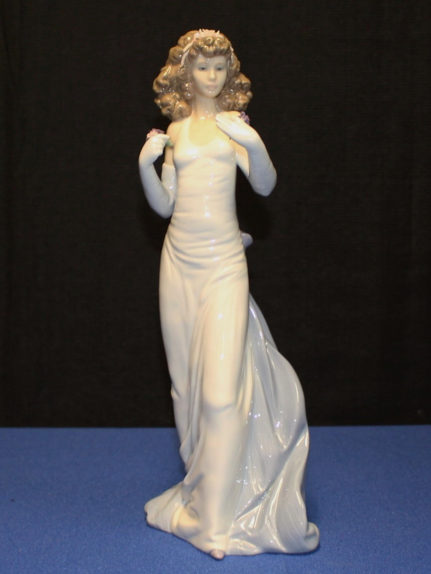 "Lladro Porcelain 12"" Anticipation #6608 Figurine 1999 Vanguard Exclusive"