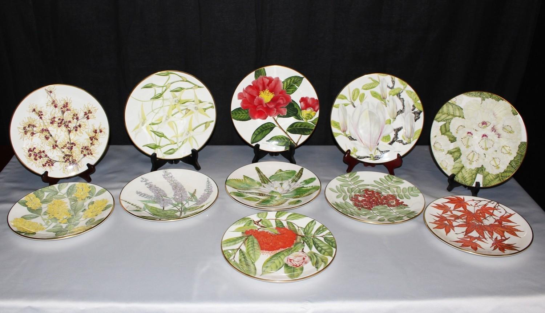 Set of 11 Danbury Joanna Langhorne Royal Botanic Gardens Collectors Plates
